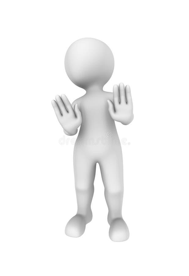 la persona 3d muestra gesto negativo ilustración del vector