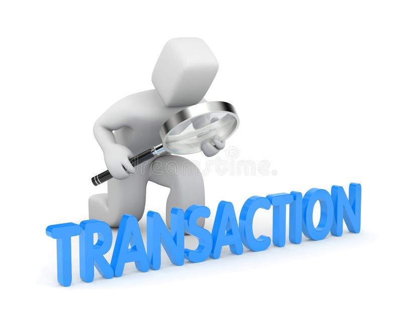 La persona examina sus transacciones libre illustration