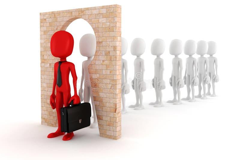 la persona regolare dell'uomo 3d all'uomo di affari trasforma il concetto illustrazione di stock