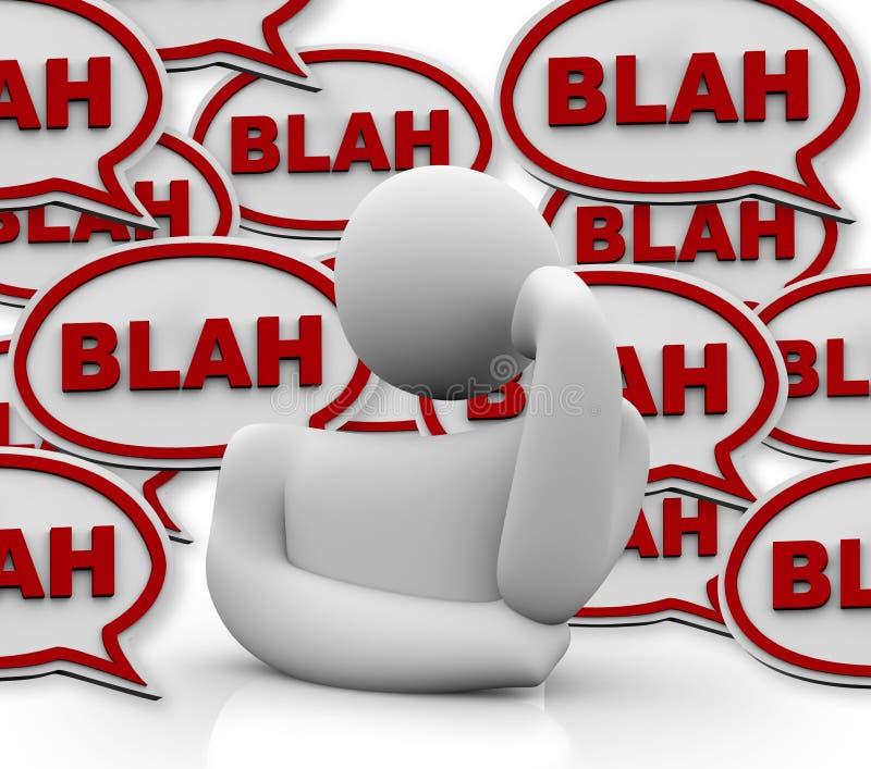 La persona si è infastidetta da altre che comunica illustrazione vettoriale