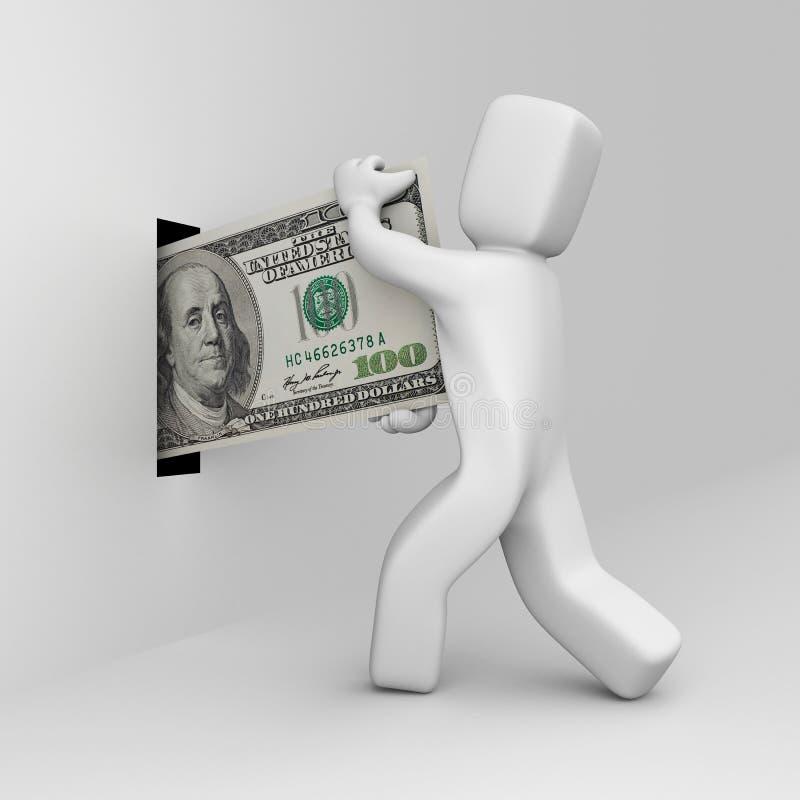 La persona trasmette i soldi illustrazione vettoriale