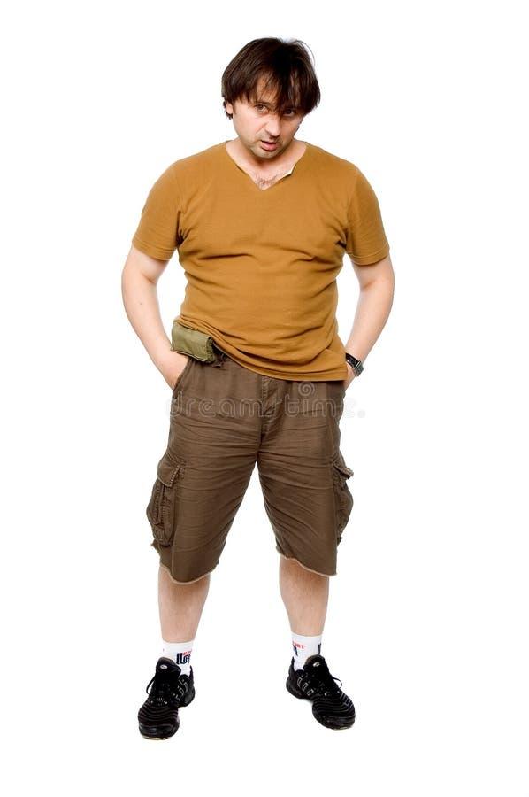 La personne dans des vêtements bruns image libre de droits