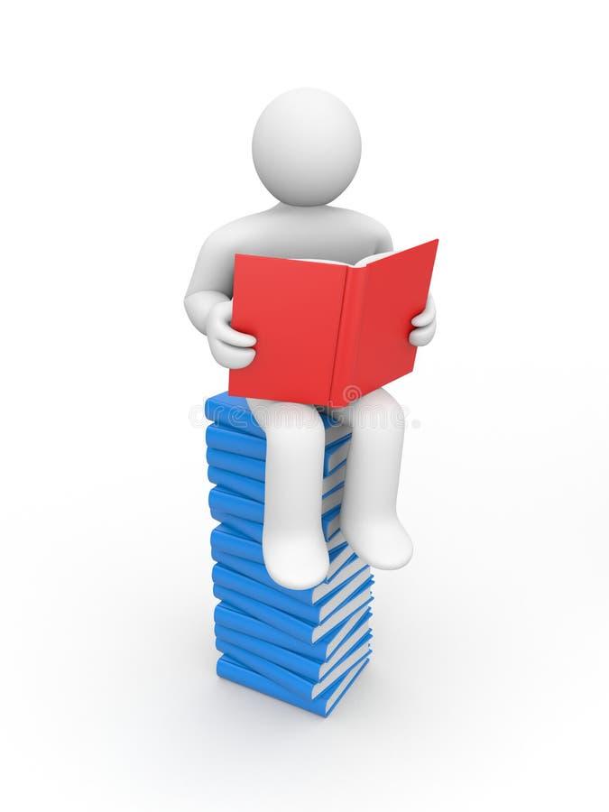 la personne de livre s'est affichée illustration stock