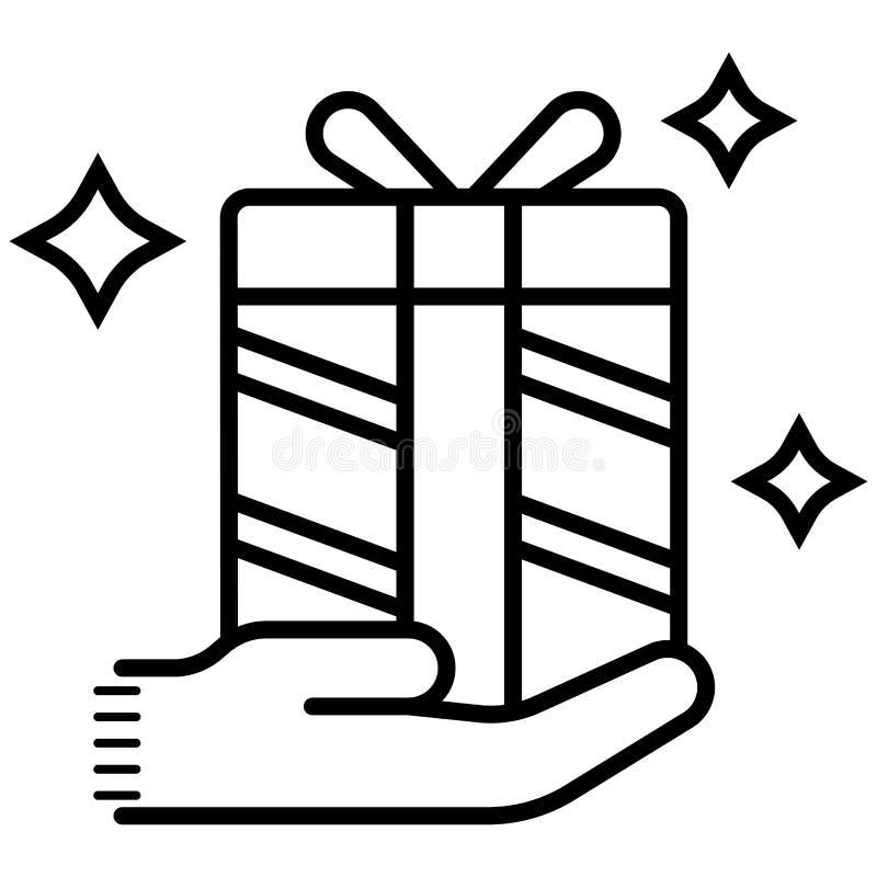 La personne donne l'icône de cadeau illustration libre de droits