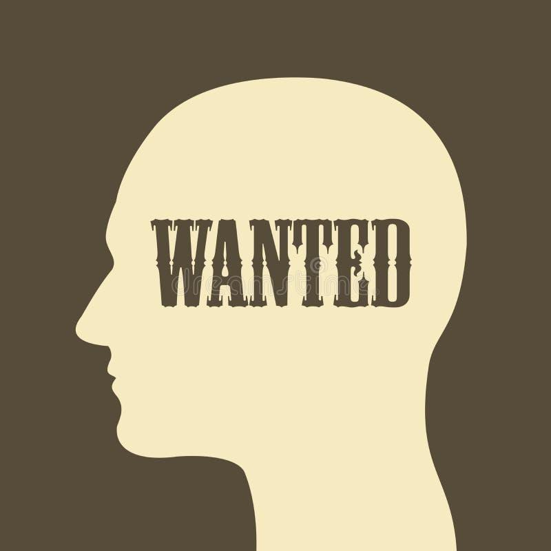 La personne est voulue en tant que la ressource humaine et criminalité illustration de vecteur