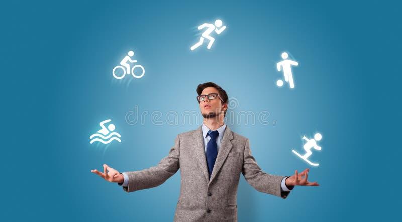 La personne jonglent avec le concept de passe-temps photographie stock