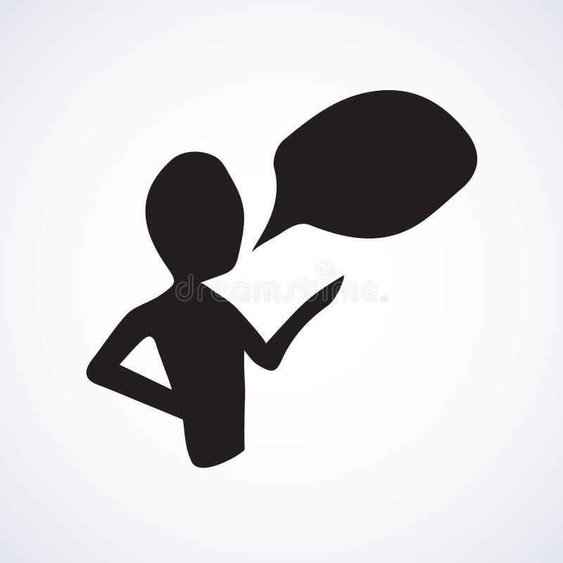 La personne parle Symbole de vecteur illustration stock