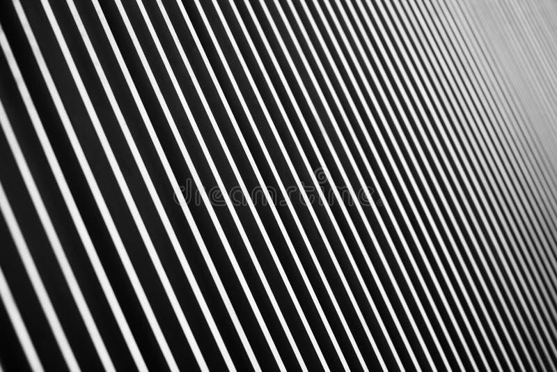 La perspective des lignes noires et blanches parallèles photos stock