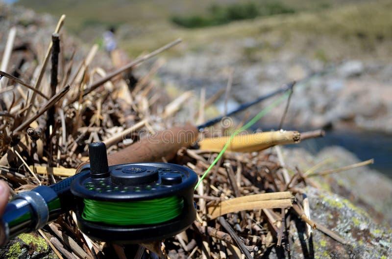 La pesca con mosca de Giants foto de archivo