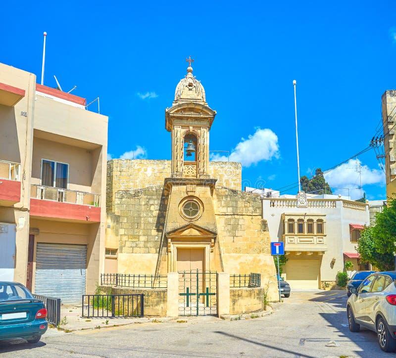 La petite église dans Mosta, Malte images stock
