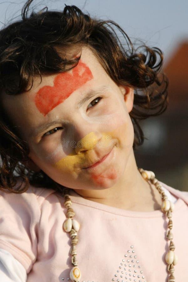 La petite fille a peint photos libres de droits