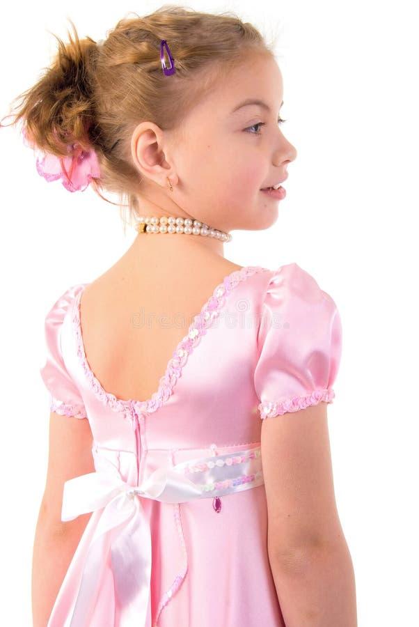 La petite fille ressemble à une petite princesse images stock