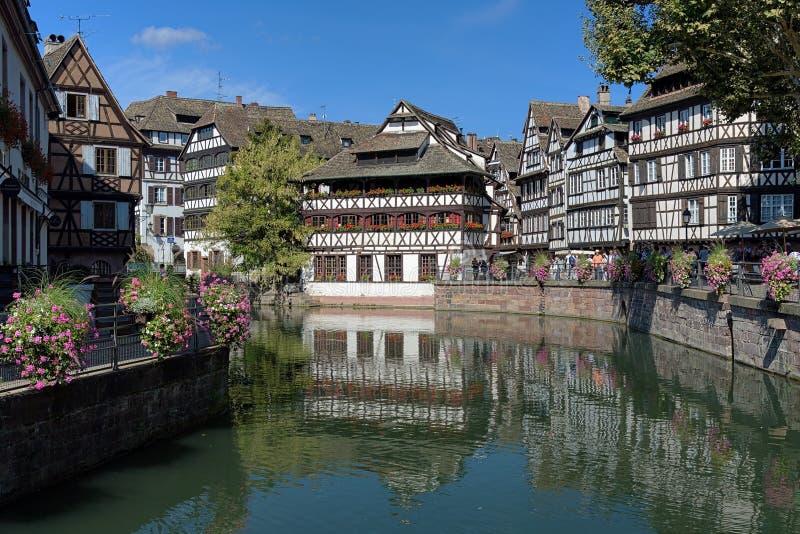 La-Petite France -Bezirk in Straßburg, Frankreich lizenzfreie stockfotos
