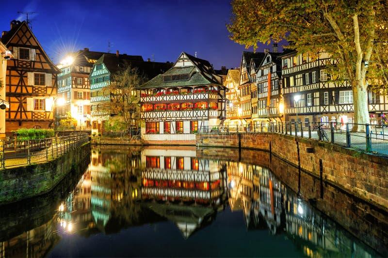 La Petite France, Straatsburg, de Elzas, Frankrijk stock afbeeldingen