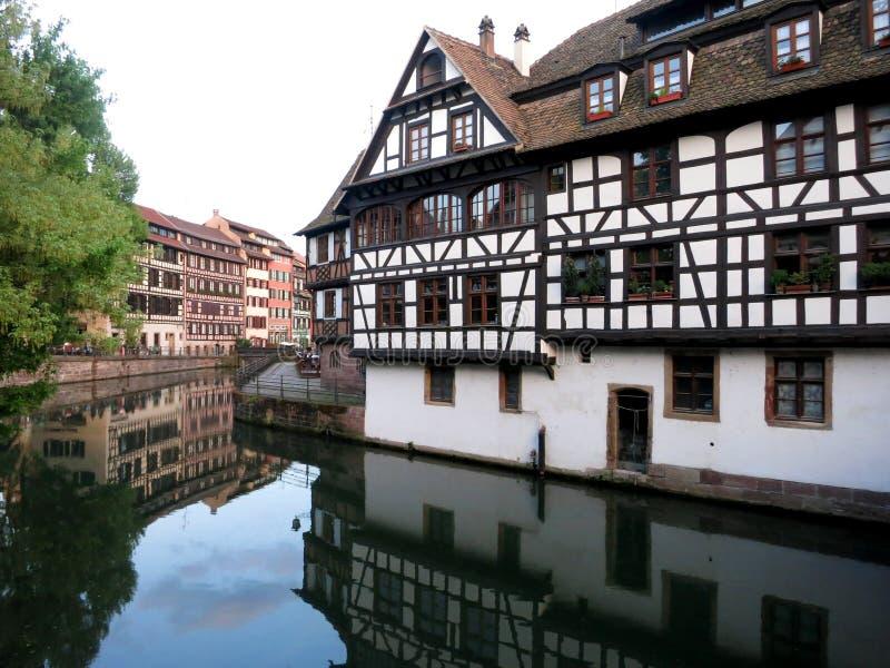 La Petite France, Straatsburg, Frankrijk stock foto
