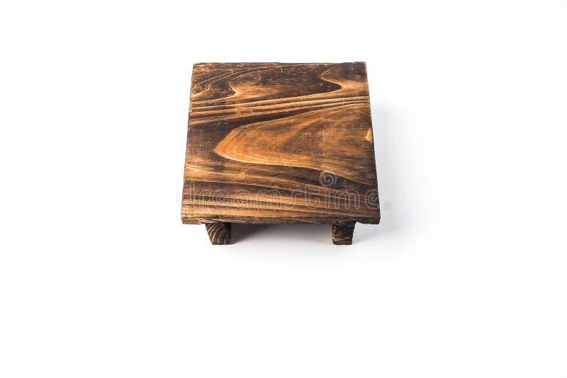La petite table en bois, avec la belle surface de texture image stock