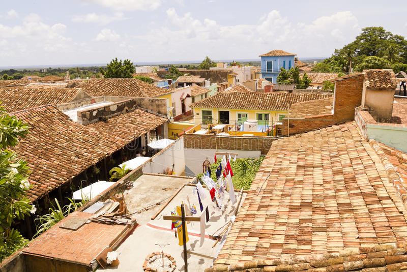 La petite ville du Trinidad photo stock