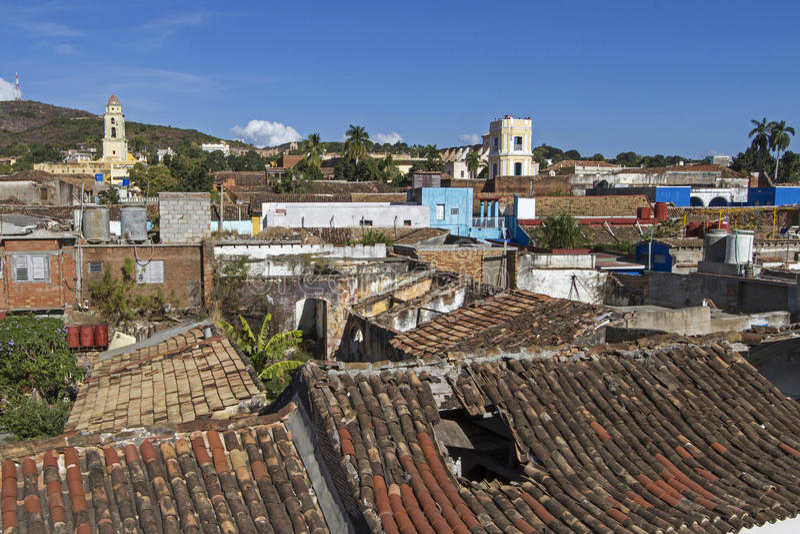 La petite ville du Trinidad sur le Cuba images libres de droits