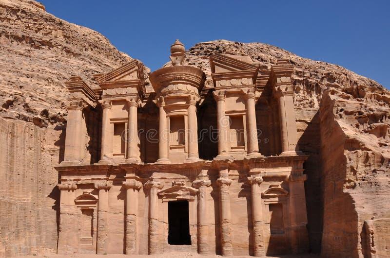 La PETRA-Jordanie, le monastère photo libre de droits