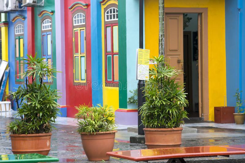 La peu d'Inde, Singapour photos stock
