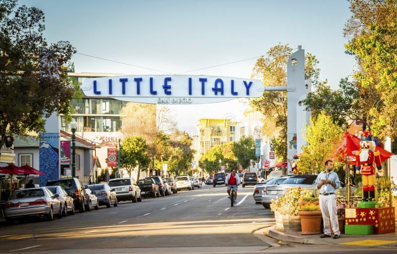 La peu d'Italie, San Diego, la Californie photo libre de droits