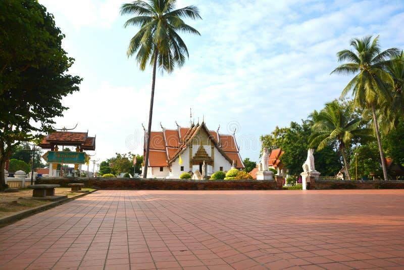 La photo de Wat Phumin, le plus célèbre à Nan images stock