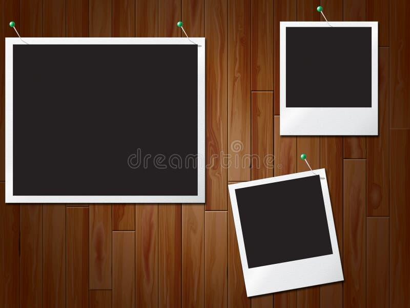 La photo encadre l'espace vide d'expositions et a embarqué illustration de vecteur
