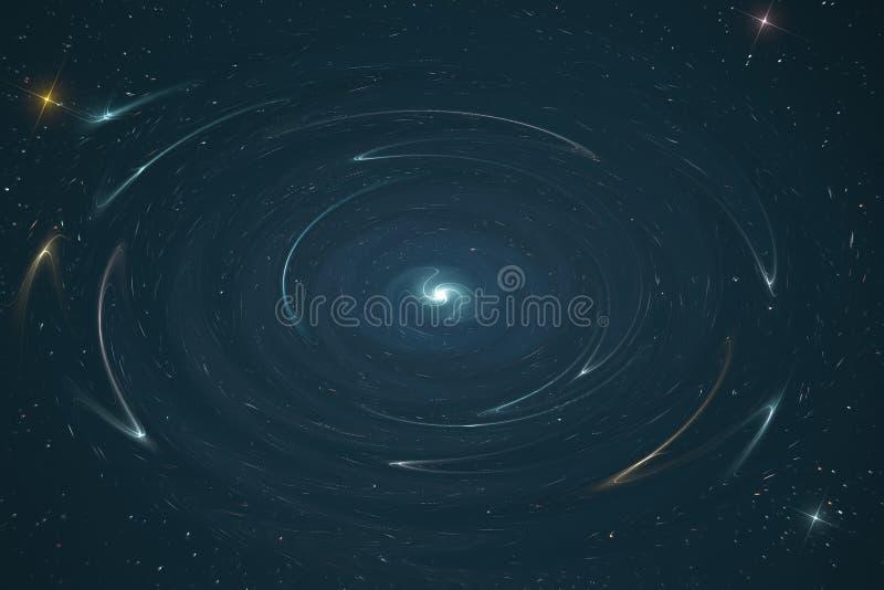 La photo est une représentation abstraite de la déformation de l'espace et du temps dans l'espace d'étoile d'un univers infini images stock