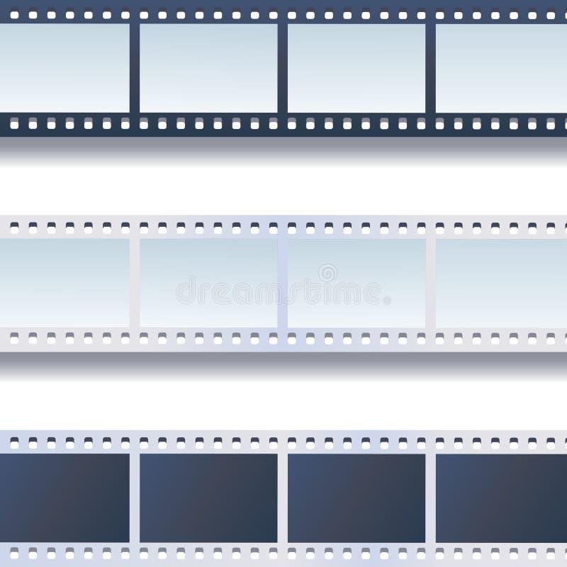 La photo, film attache du ruban adhésif à l'ensemble de vecteur illustration stock