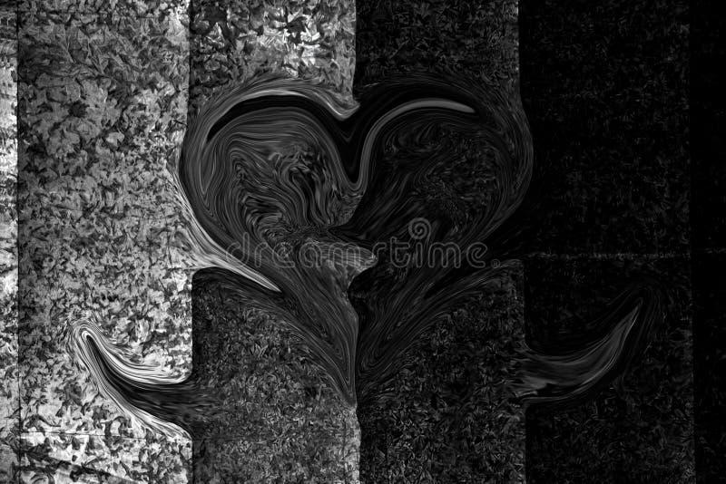 La photo monochrome d'abrégé sur tache floue d'illustration du zinc couvre le fond noir et blanc de modèle, ressemble au visage e illustration de vecteur