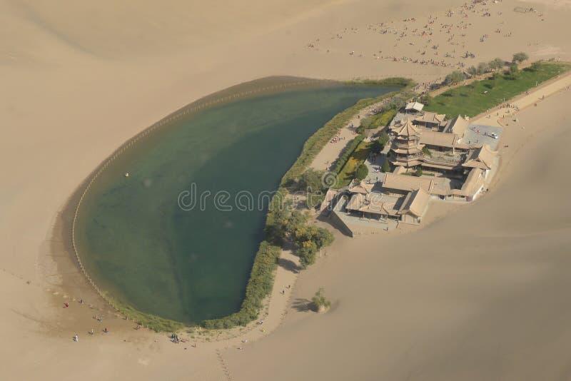 La photographie aérienne du lac Crescent image stock