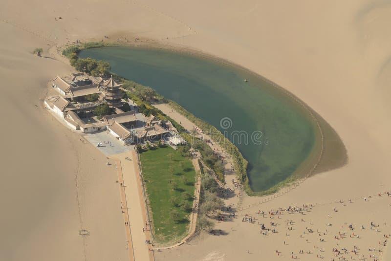 La photographie aérienne du lac Crescent photographie stock libre de droits