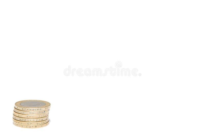 La pièce de monnaie de livre deux BRITANNIQUE photo stock