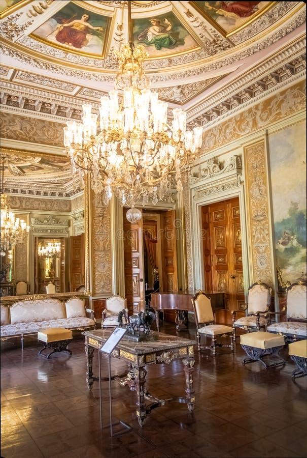 La pièce vénitienne au palais de Catete, l'ancien palais présidentiel loge maintenant le musée de République - Rio de Janeiro, Br photo libre de droits
