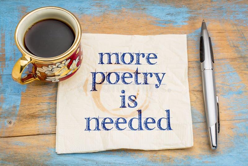 La più poesia è concetto necessario del tovagliolo fotografie stock libere da diritti