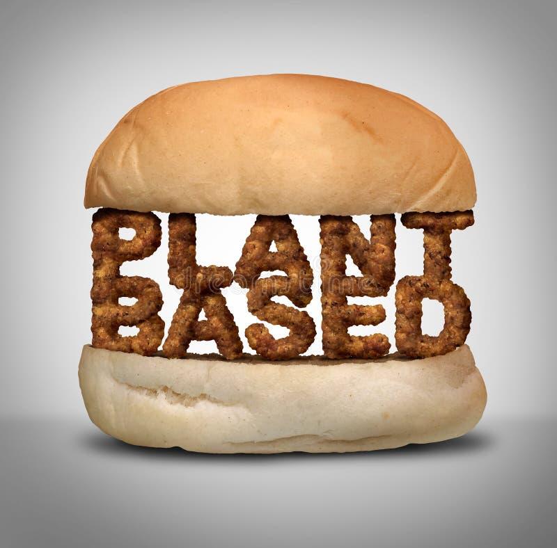 La pianta ha basato il tortino della verdura e dell'hamburger illustrazione di stock