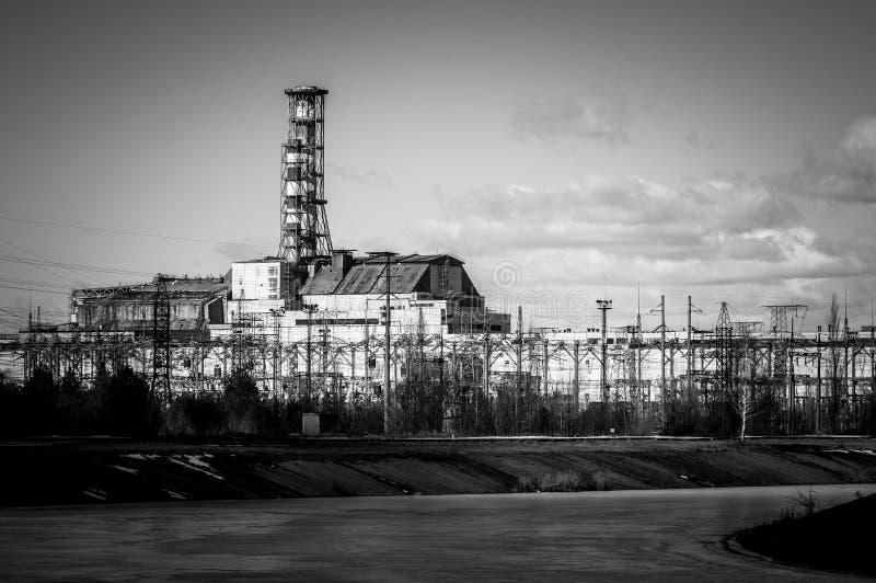 La pianta nucleare di Ä?ernobyl'Pwer immagini stock