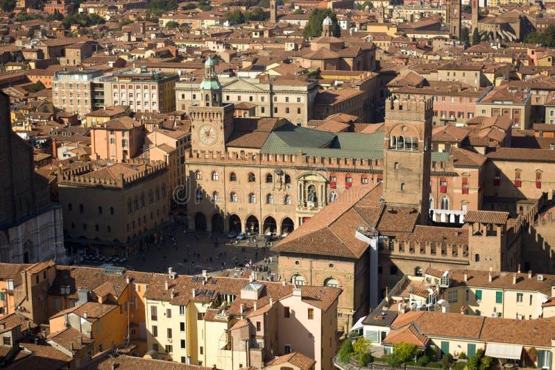 La Piazza Grande di Bolonha foto de stock royalty free