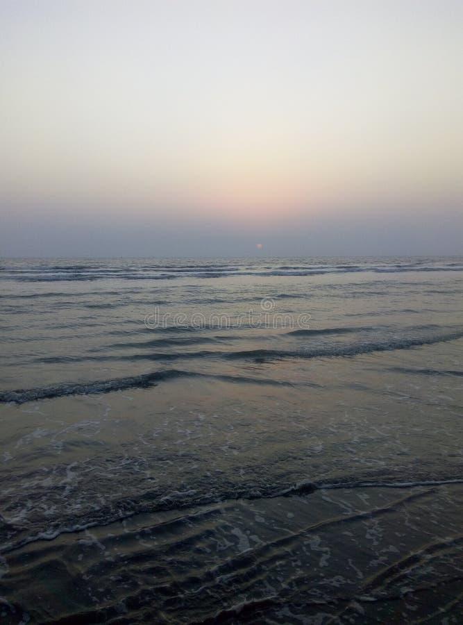 La PIC de l'eau de mer lentement en mouvement photographie stock