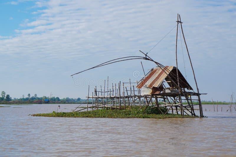 La piccola capanna del pescatore fotografia stock