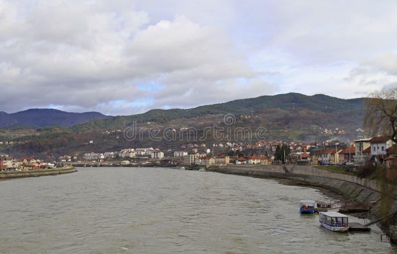 La piccola città piacevole Visegrad fotografie stock
