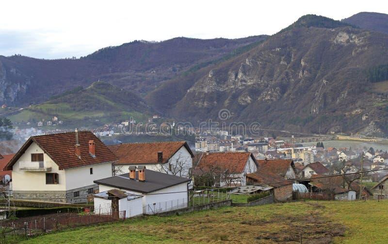 La piccola città piacevole Visegrad fotografia stock