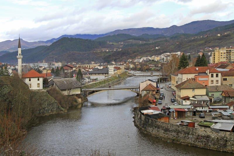 La piccola città piacevole Visegrad immagini stock