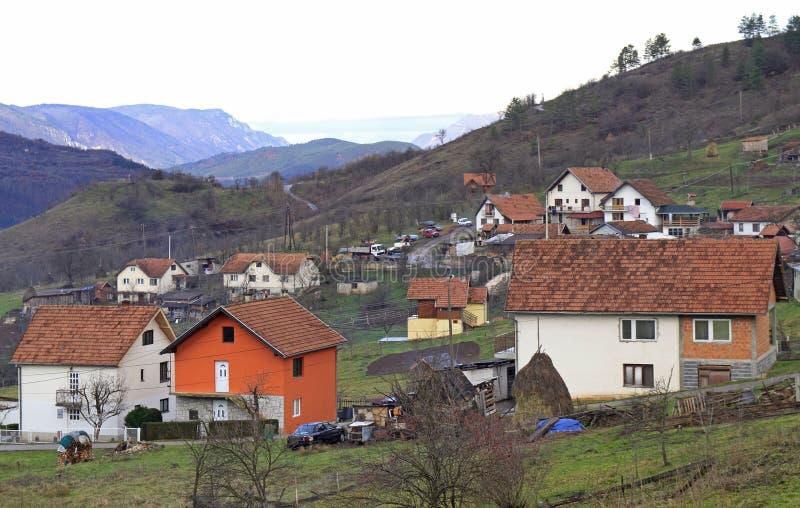 La piccola città piacevole Visegrad fotografie stock libere da diritti