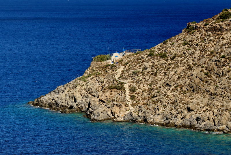 La piccola isola Kalymnos in Grecia fotografie stock