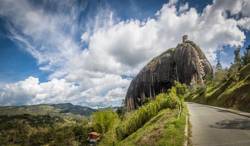 La Piedra del Penol, Guatape Rock - Colombia. Panoramic view of La Piedra Guatape Rock in Antioquia, Colombia stock photos