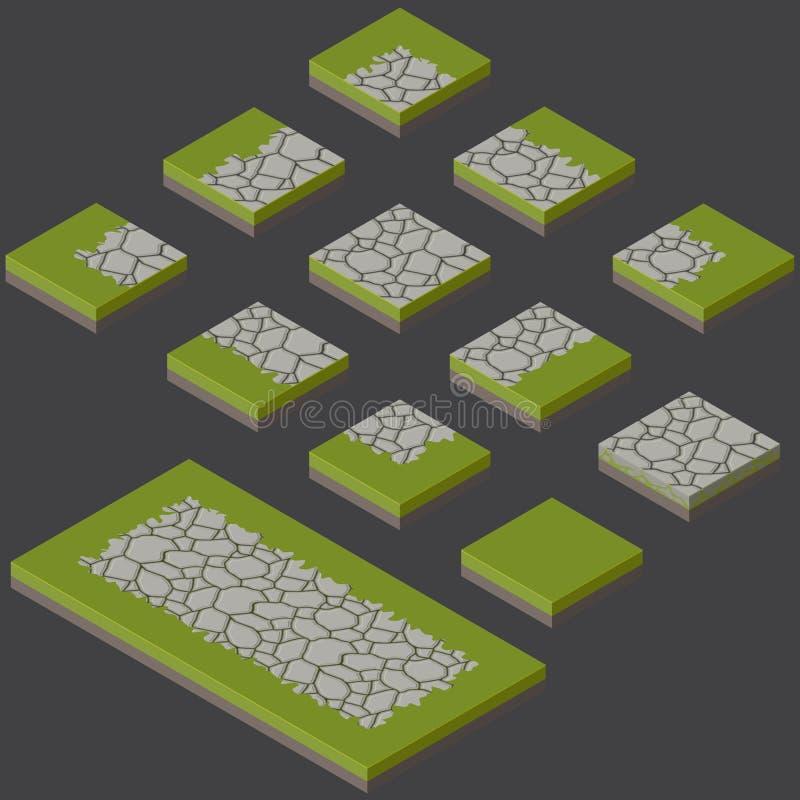 La pierre couvre de tuiles le kit illustration de vecteur