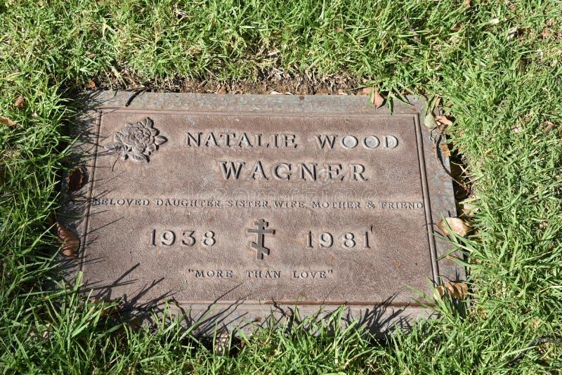 La pierre tombale de Natalie Wood Wagner photos libres de droits