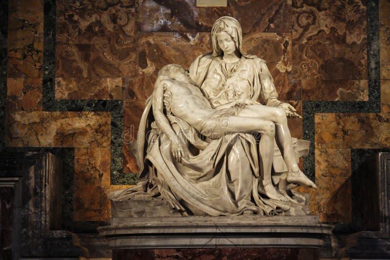 La Pieta - Heilige Peter Basilica - Vatikaan stock fotografie