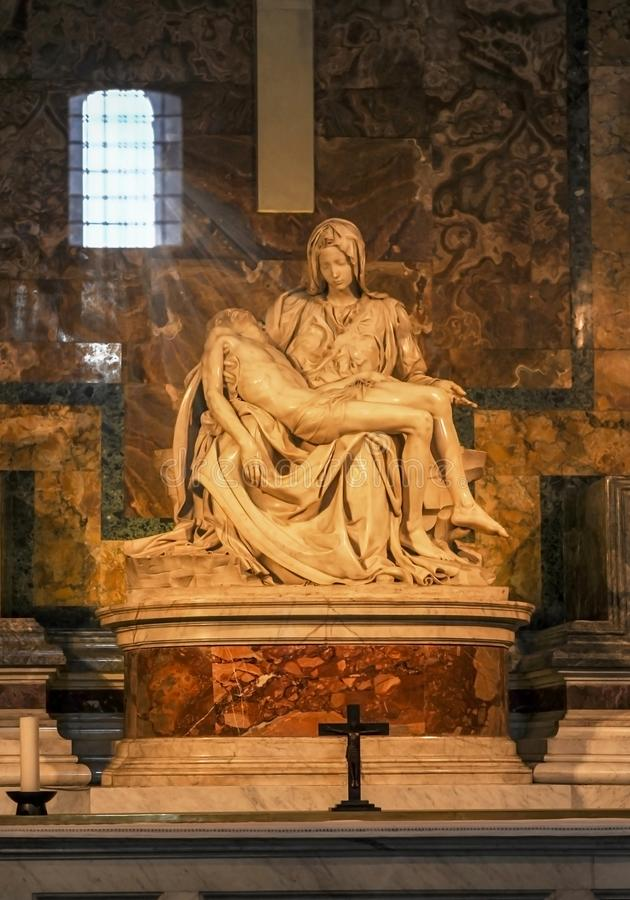 La Pieta by Michelangelo stock photography